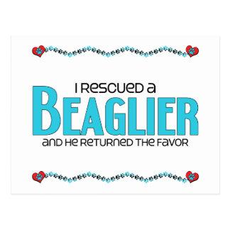I Rescued a Beaglier (Male) Dog Adoption Design Post Card