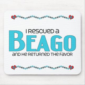 I Rescued a Beago (Male) Dog Adoption Design Mouse Pad