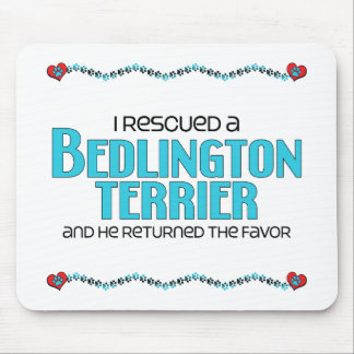 I Rescued a Bedlington Terrier (Male Dog) Mouse Pad