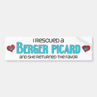 I Rescued a Berger Picard (Female Dog) Bumper Sticker