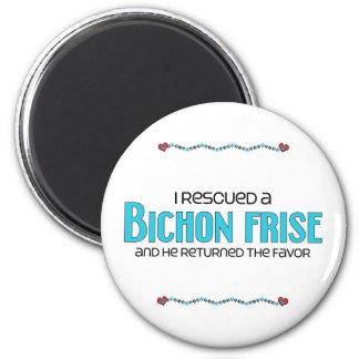 I Rescued a Bichon Frise (Male Dog) Fridge Magnets