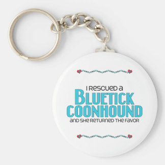 I Rescued a Bluetick Coonhound (Female Dog) Basic Round Button Key Ring