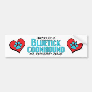 I Rescued a Bluetick Coonhound (Male Dog) Car Bumper Sticker