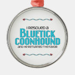 I Rescued a Bluetick Coonhound (Male Dog) Christmas Tree Ornament
