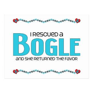 I Rescued a Bogle (Female) Dog Adoption Design Postcard