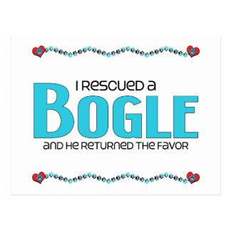 I Rescued a Bogle (Male) Dog Adoption Design Postcard