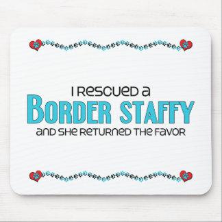 I Rescued a Border Staffy (Female) Dog Adoption Mouse Pad