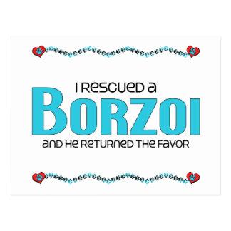 I Rescued a Borzoi (Male Dog) Postcards
