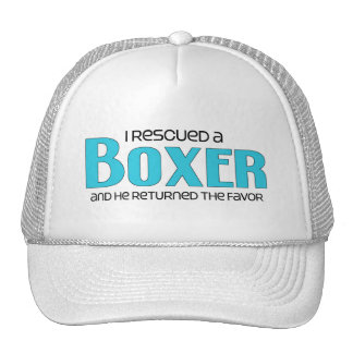 I Rescued a Boxer (Male Dog) Mesh Hats