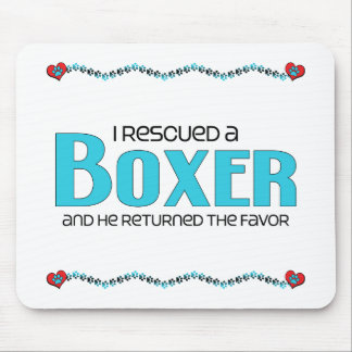 I Rescued a Boxer (Male Dog) Mouse Pads