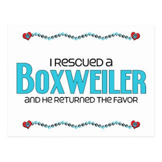 I Rescued a Boxweiler (Male) Dog Adoption Design Postcard