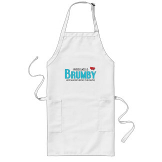 I Rescued a Brumby (Female Horse) Long Apron