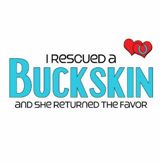 I Rescued a Buckskin (Female Horse) Photo Sculpture Magnet
