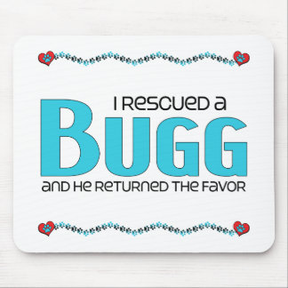 I Rescued a Bugg (Male) Dog Adoption Design Mouse Pad