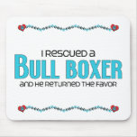 I Rescued a Bull Boxer (Male) Dog Adoption Design Mousepad