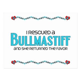 I Rescued a Bullmastiff (Female Dog) Postcard