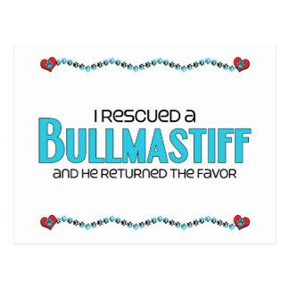 I Rescued a Bullmastiff (Male Dog) Postcard