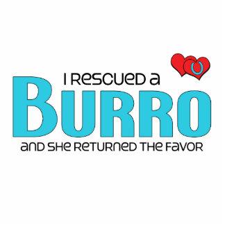 I Rescued a Burro Female Burro Cut Out