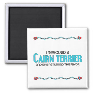 I Rescued a Cairn Terrier (Female Dog) Magnet