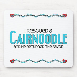 I Rescued a Cairnoodle (Male) Dog Adoption Design Mouse Pad