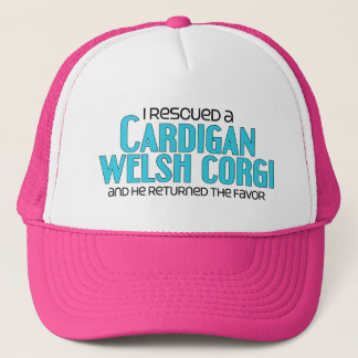 I Rescued a Cardigan Welsh Corgi (Male Dog) Trucker Hat
