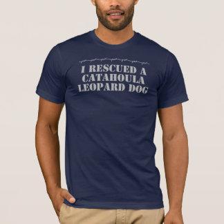 I Rescued a Catahoula Leopard Dog Dark T-Shirt