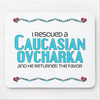 I Rescued a Caucasian Ovcharka (Male Dog) Mouse Pad