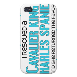 I Rescued a Cavalier King Charles Spaniel (Female) iPhone 4/4S Case