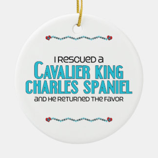 I Rescued a Cavalier King Charles Spaniel (Male) Christmas Ornaments