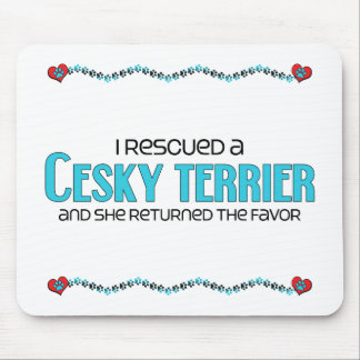 I Rescued a Cesky Terrier (Female Dog) Mouse Pad