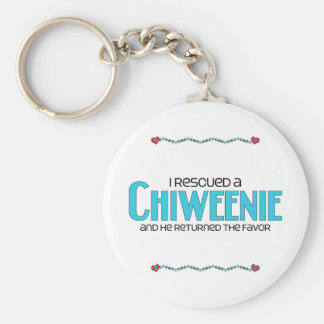 I Rescued a Chiweenie Male Dog Adoption Design Keychains
