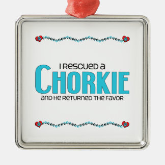 I Rescued a Chorkie (Male) Dog Adoption Design Christmas Ornament
