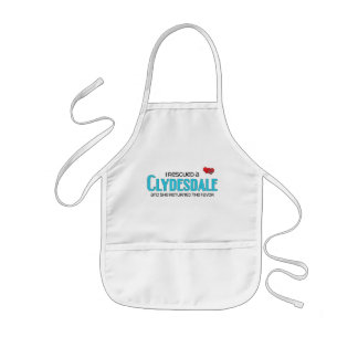 I Rescued a Clydesdale (Female Horse) Kids' Apron