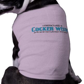 I Rescued a Cocker Westie (Female) Dog Adoption Pet Tshirt
