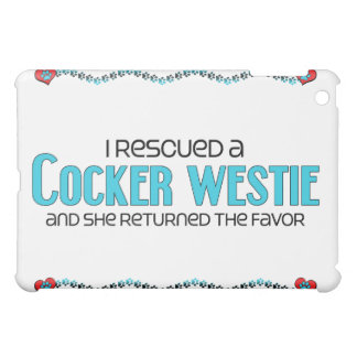 I Rescued a Cocker Westie Female Dog Adoption iPad Mini Case