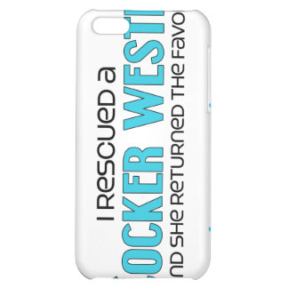 I Rescued a Cocker Westie (Female) Dog Adoption iPhone 5C Covers