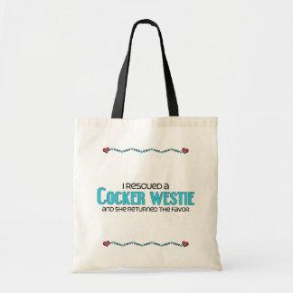 I Rescued a Cocker Westie (Female) Dog Adoption Bags
