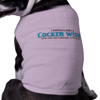 I Rescued a Cocker Westie Male Dog Adoption Pet T-shirt