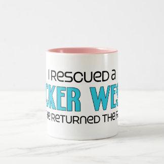 I Rescued a Cocker Westie (Male) Dog Adoption Two-Tone Coffee Mug