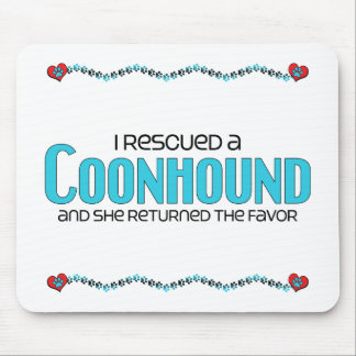I Rescued a Coonhound (Female Dog) Mousepad