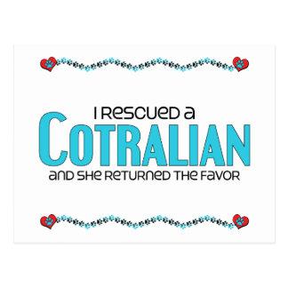 I Rescued a Cotralian (Female) Dog Adoption Design Postcard
