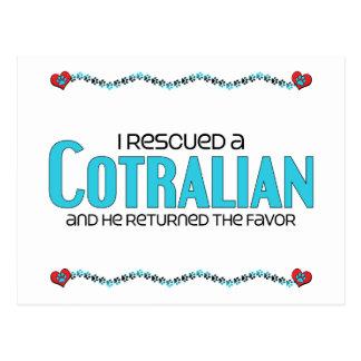 I Rescued a Cotralian (Male) Dog Adoption Design Postcard