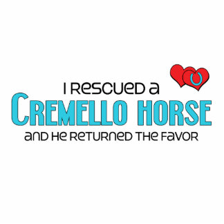 I Rescued a Cremello Horse (Male Horse) Acrylic Cut Out