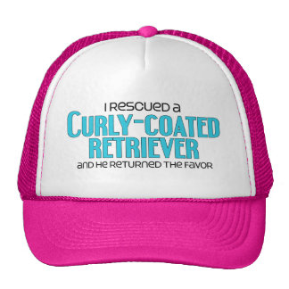 I Rescued a Curly-Coated Retriever (Male Dog) Trucker Hats
