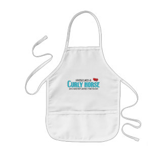 I Rescued a Curly Horse Female Horse Aprons