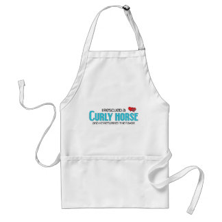 I Rescued a Curly Horse (Male Horse) Standard Apron