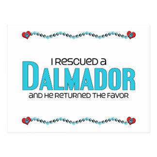 I Rescued a Dalmador (Male) Dog Adoption Design Post Card