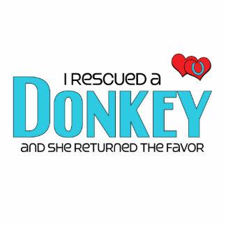 I Rescued a Donkey Female Donkey Photo Cutout