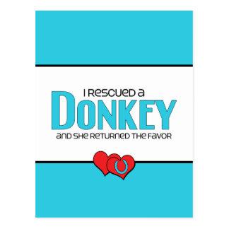I Rescued a Donkey (Female Donkey) Postcard
