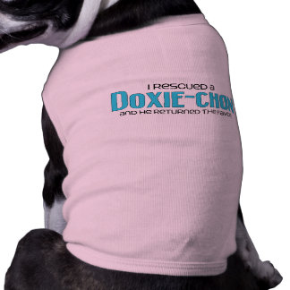 I Rescued a Doxie-Chon Male Dog Adoption Design Pet Tee